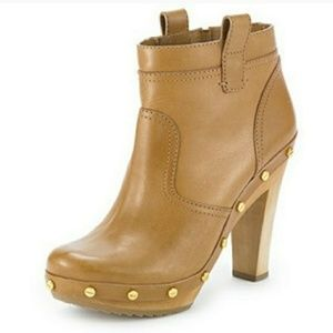 Tory Burch Dallas studs leather clog booties